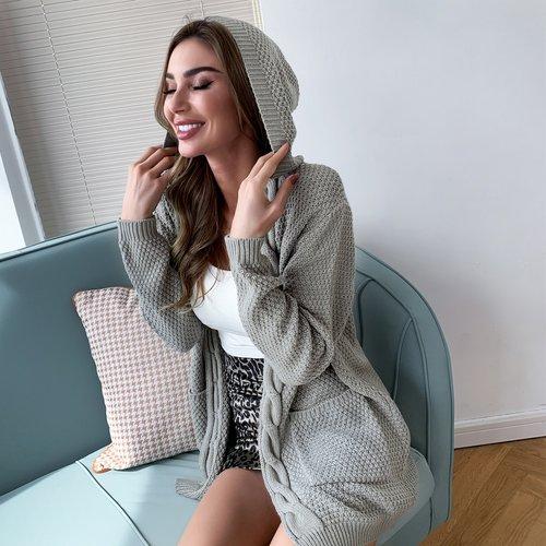 Gilet à capuche avec poches - SHEIN - Modalova