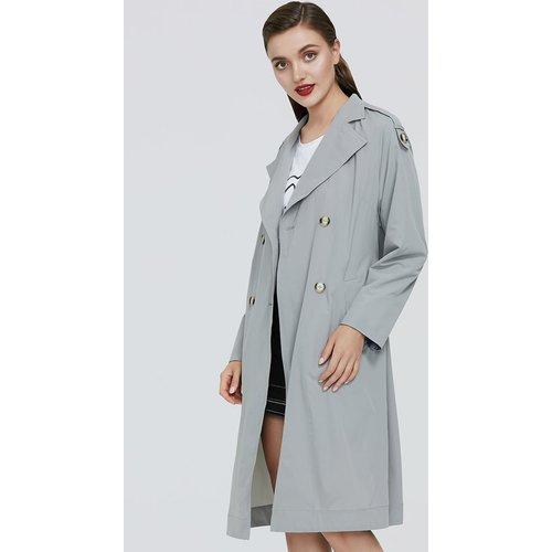 Manteau ceinturé avec boutons - SHEIN - Modalova