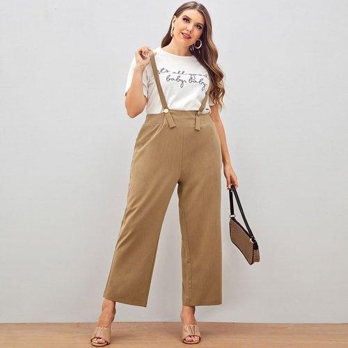 Combinaison à bretelles avec poche sans t-shirt - SHEIN - Modalova