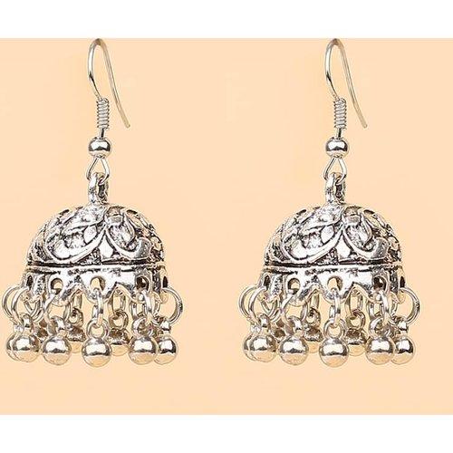 Boucles d'oreilles jhumka avec métal - SHEIN - Modalova
