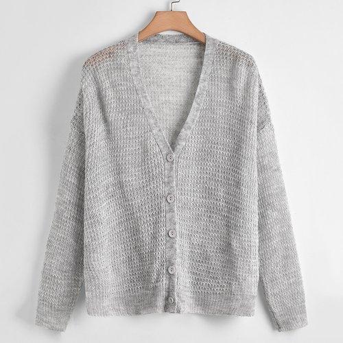 Cardigan boutonné - SHEIN - Modalova