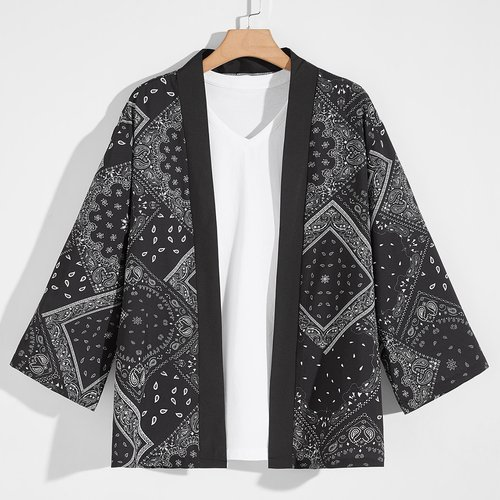 Kimono avec imprimé - SHEIN - Modalova