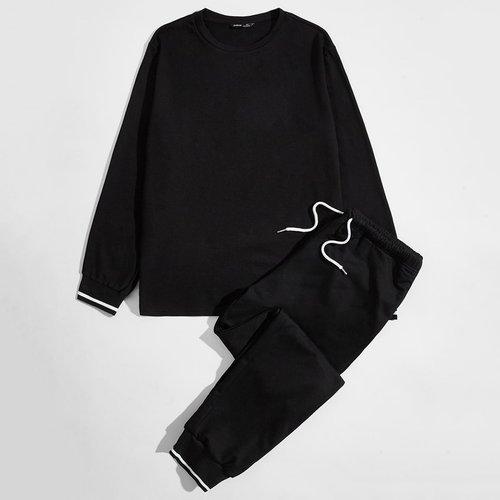 Ensemble de pyjama sweat-shirt & pantalon de survêtement - SHEIN - Modalova