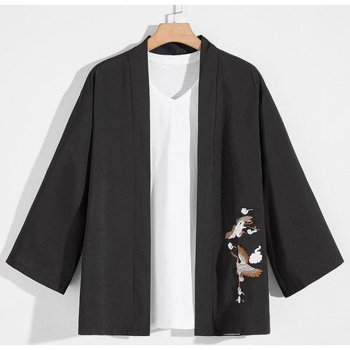 Kimono brodé grue - SHEIN - Modalova