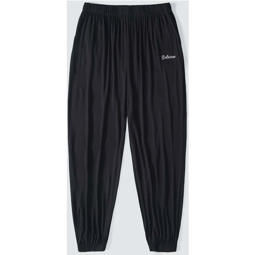 Pantalon de pyjama avec motif lettre - SHEIN - Modalova