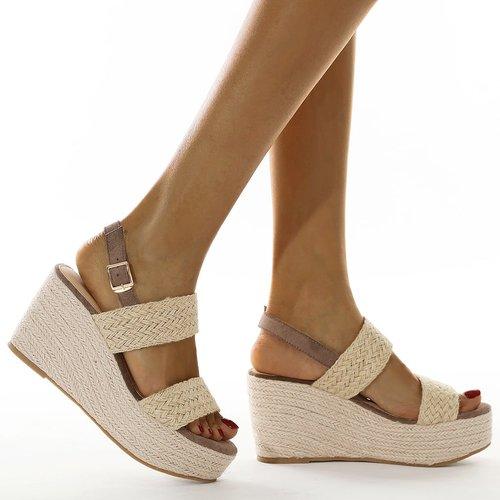 Sandales espadrilles compensées à bride arrière - SHEIN - Modalova