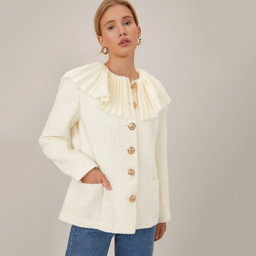 Manteau en tweed - SHEIN - Modalova