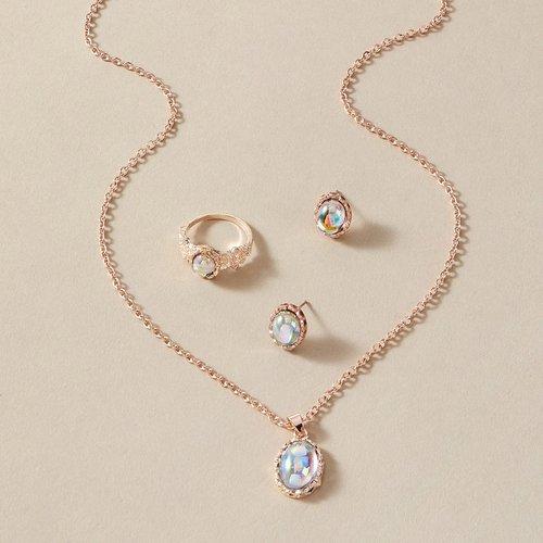 Collier à gemme & Boucles d'oreilles & Bague - SHEIN - Modalova