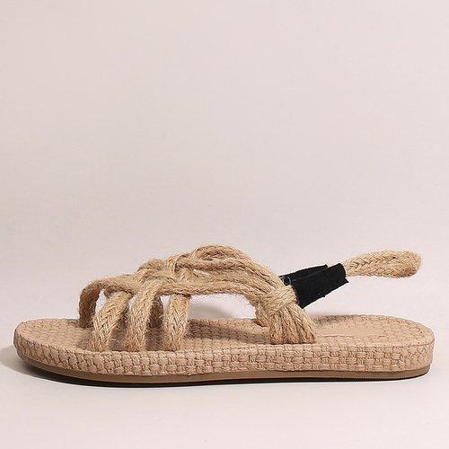 Sandales espadrilles à bride arrière - SHEIN - Modalova