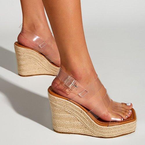 Sandales compensées espadrilles à bride arrière - SHEIN - Modalova