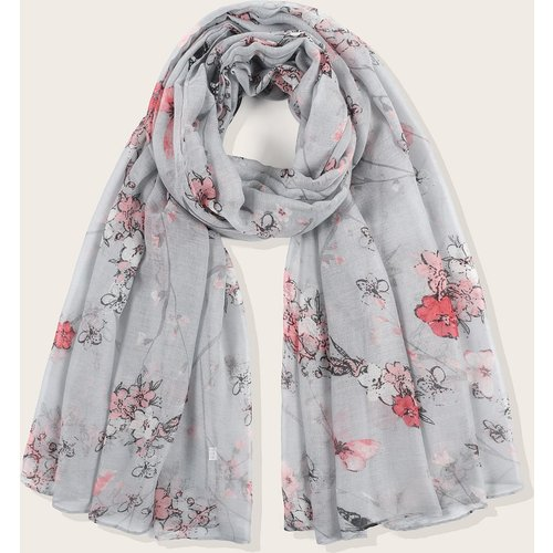 Écharpe avec imprimé fleur - SHEIN - Modalova