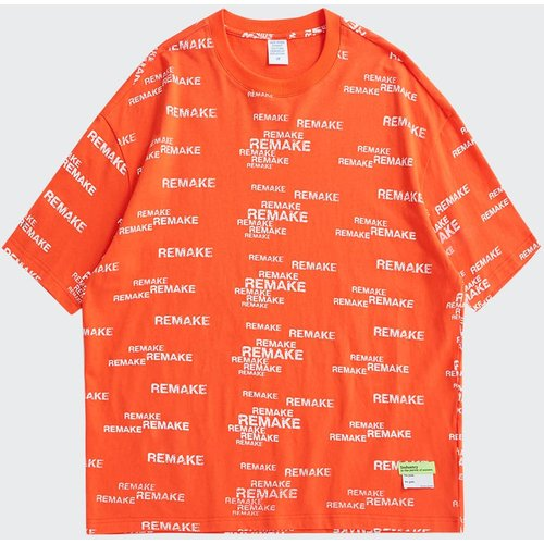 T-shirt fluo à imprimé lettres - SHEIN - Modalova
