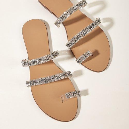 Sandales à strass - SHEIN - Modalova