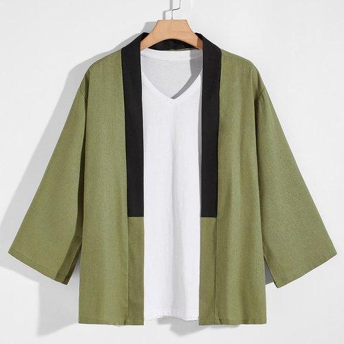 Kimono avec blocs de couleurs sans t-shirt - SHEIN - Modalova