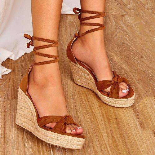 Sandales espadrilles compensées avec nœud - SHEIN - Modalova