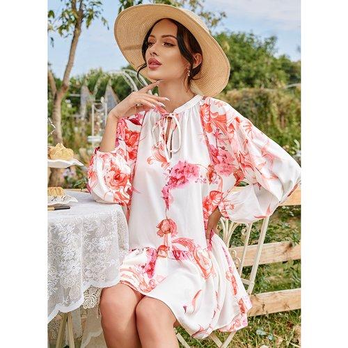 Robe courte fleurie - SHEIN - Modalova