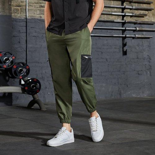 Pantalon avec zip et poche - SHEIN - Modalova