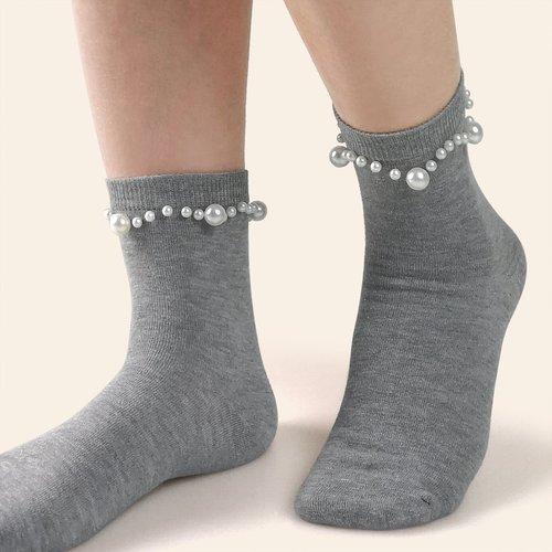 Chaussettes à perles - SHEIN - Modalova