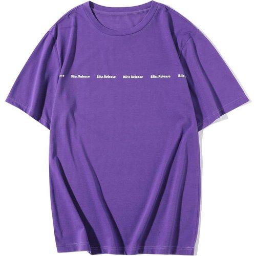 T-shirt avec motif lettre - SHEIN - Modalova