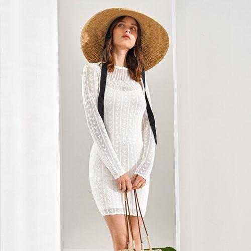 Robe pull en tricot (sans robe de fond) - SHEIN - Modalova