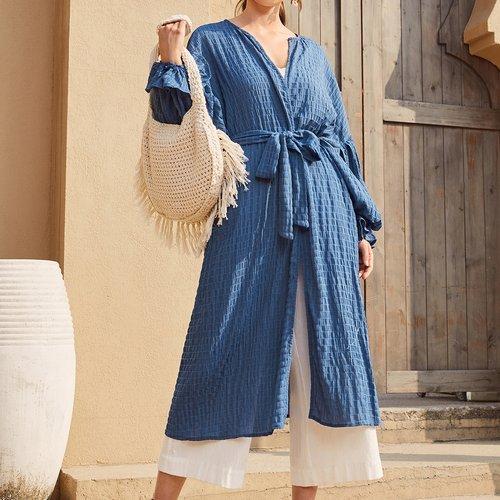 Kimono ceinturé - SHEIN - Modalova
