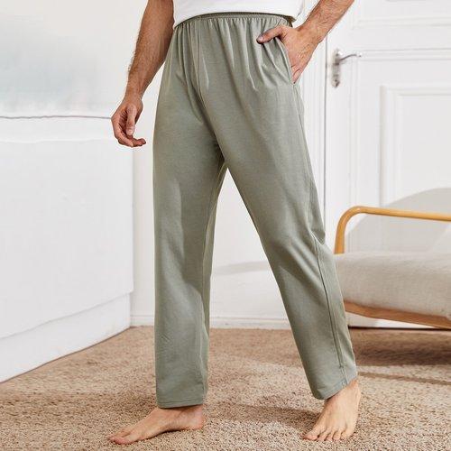 Pantalon de pyjama unicolore - SHEIN - Modalova