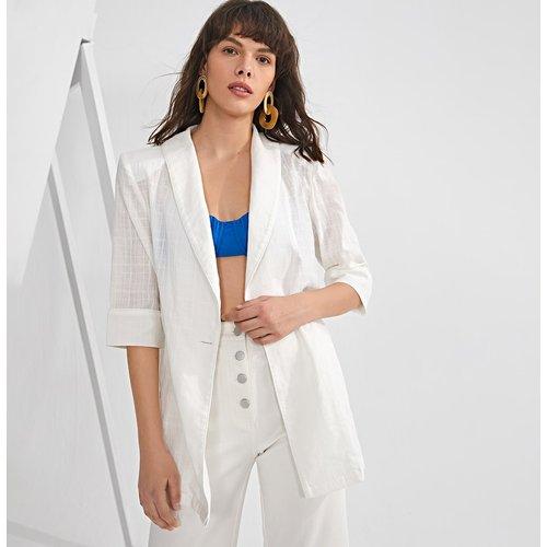 Manteau transparent avec bouton - SHEIN - Modalova