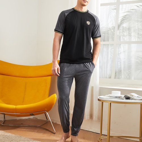 Ensemble de pyjama top avec manches raglan & pantalon - SHEIN - Modalova