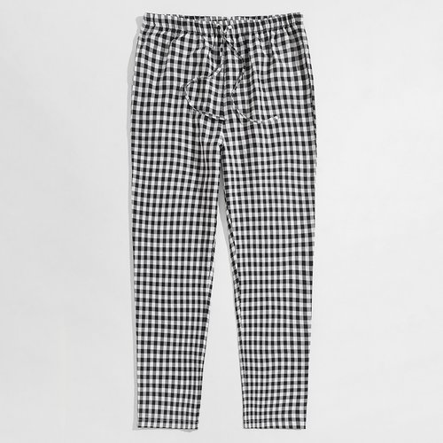 Pantalon de pyjama à carreaux avec cordon - SHEIN - Modalova