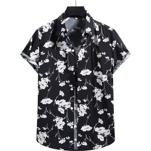 Chemise à imprimé fleur avec boutons - SHEIN - Modalova