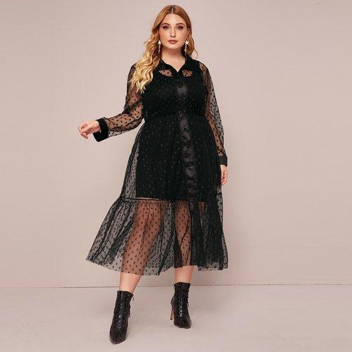Robe chemise transparente (sans fond de robe) - SHEIN - Modalova