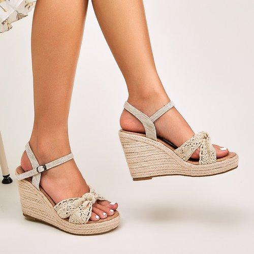 Sandales espadrilles compensées avec crochet - SHEIN - Modalova