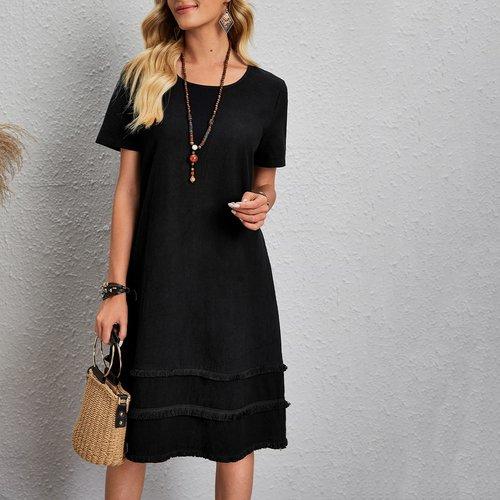 Robe tunique à franges - SHEIN - Modalova