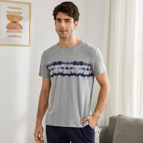 T-shirt de pyjama tie dye - SHEIN - Modalova