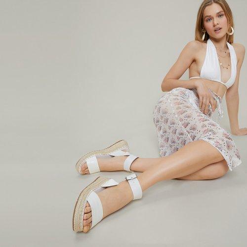Sandales espadrilles en similicuir - SHEIN - Modalova