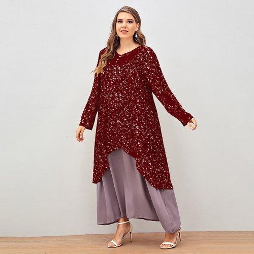 Robe tunique 2 en 1 fleurie - SHEIN - Modalova