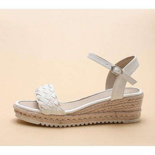 Sandales espadrilles compensées tressées - SHEIN - Modalova