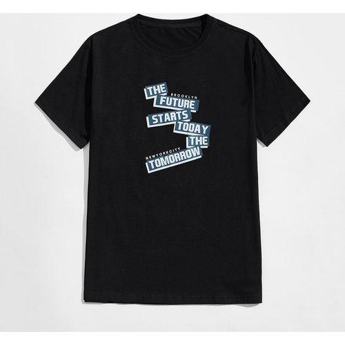 T-shirt de pyjama avec motif slogan - SHEIN - Modalova