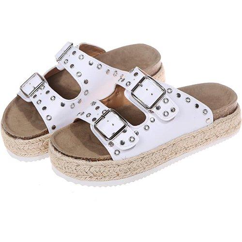Sandales à semelles espadrilles cloutées - SHEIN - Modalova