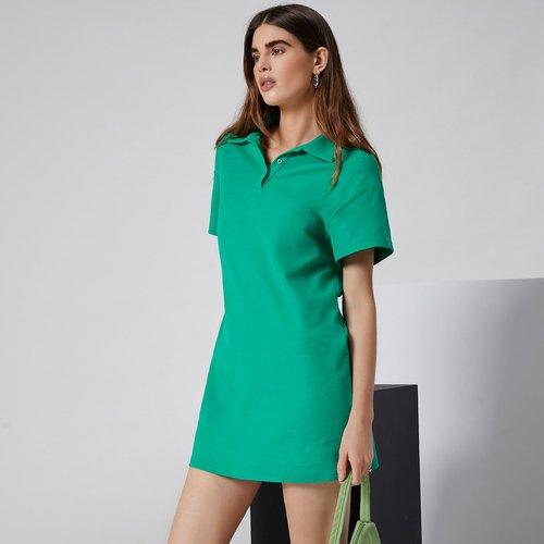 Robe t-shirt avec col polo - SHEIN - Modalova