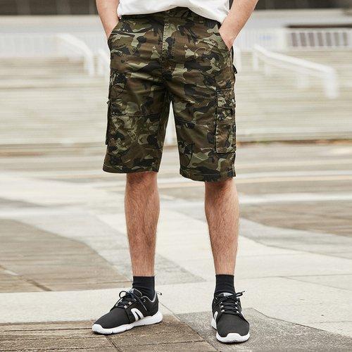 Short avec imprimé camouflage et poches - SHEIN - Modalova