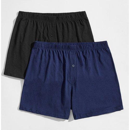 Pièces Short de pyjama unicolore - SHEIN - Modalova