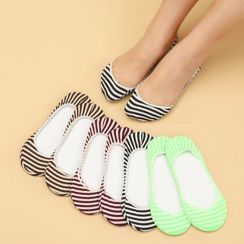 Pièces Chaussettes invisibles à rayures - SHEIN - Modalova