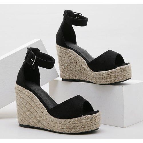 Sandales compensées espadrilles - SHEIN - Modalova
