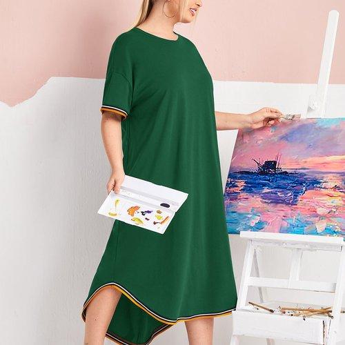Robe t-shirt avec rayures - SHEIN - Modalova