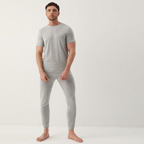 Ensemble de pyjama t-shirt unicolore & pantalon - SHEIN - Modalova