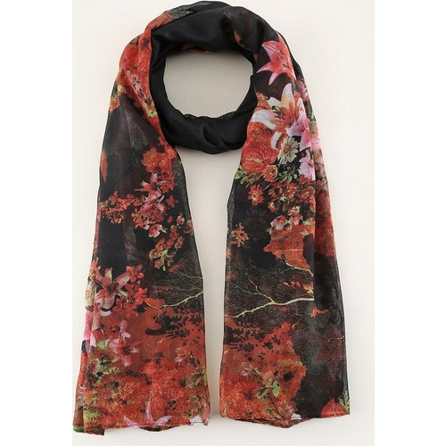 Écharpe à imprimé fleurs - SHEIN - Modalova
