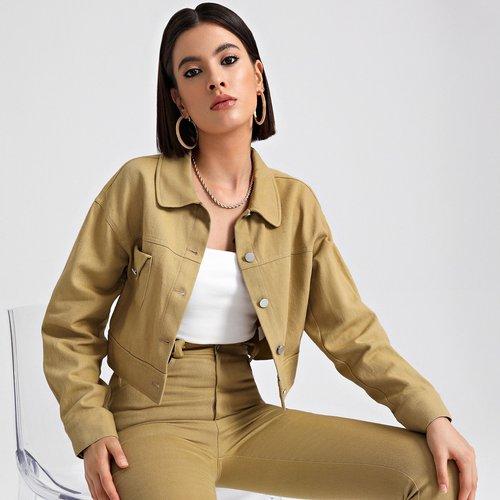 Veste courte avec appliques - SHEIN - Modalova