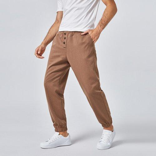 Pantalon avec boutons - SHEIN - Modalova