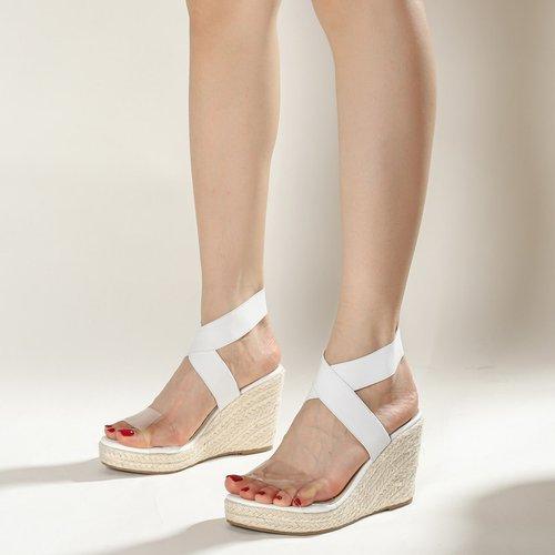 Sandales espadrilles compensées minimaliste - SHEIN - Modalova